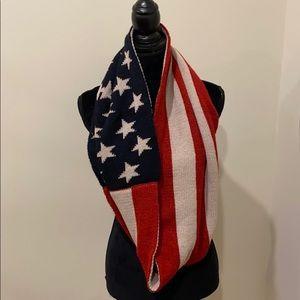 American flag circle scarf